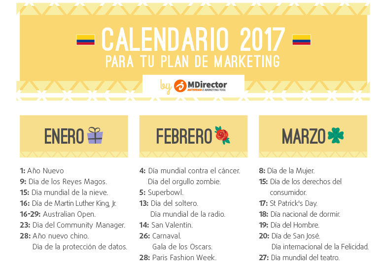 calendario marketing